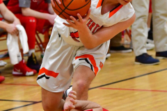 CIAC Boys Basketball; Watertown 63 vs. Wolcott 73 - Photo # 306