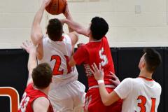 CIAC Boys Basketball; Watertown 63 vs. Wolcott 73 - Photo # 350