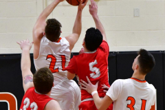CIAC Boys Basketball; Watertown 63 vs. Wolcott 73 - Photo # 351