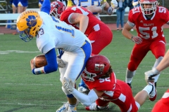 CIAC Football; Wolcott 34 vs. Seymour 27 - Photo #A 498