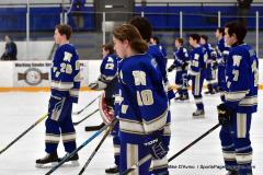 CIACT Ice Hockey D3 QFs; #1 Hand 5 vs. #8 Newtown 0 - Photo # 266