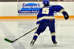 CIACT Ice Hockey D3 QFs; #1 Hand 5 vs. #8 Newtown 0 - Photo # 083