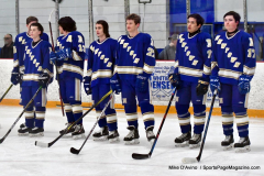 CIACT Ice Hockey D3 QFs; #1 Hand 5 vs. #8 Newtown 0 - Photo # 215