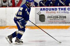 CIACT Ice Hockey D3 QFs; #1 Hand 5 vs. #8 Newtown 0 - Photo # 1004