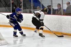 CIACT Ice Hockey D3 QFs; #1 Hand 5 vs. #8 Newtown 0 - Photo # 1023