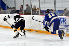 CIACT Ice Hockey D3 QFs; #1 Hand 5 vs. #8 Newtown 0 - Photo # 1039
