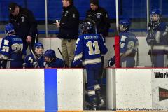 CIACT Ice Hockey D3 QFs; #1 Hand 5 vs. #8 Newtown 0 - Photo # 1042