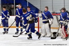 CIACT Ice Hockey D3 QFs; #1 Hand 5 vs. #8 Newtown 0 - Photo # 219