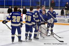 CIACT Ice Hockey D3 QFs; #1 Hand 5 vs. #8 Newtown 0 - Photo # 260