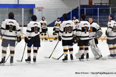 CIACT Ice Hockey D3 QFs; #1 Hand 5 vs. #8 Newtown 0 - Photo # 283