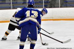 CIACT Ice Hockey D3 QFs; #1 Hand 5 vs. #8 Newtown 0 - Photo # 344