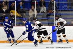 CIACT Ice Hockey D3 QFs; #1 Hand 5 vs. #8 Newtown 0 - Photo # 355