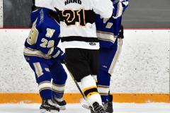 CIACT Ice Hockey D3 QFs; #1 Hand 5 vs. #8 Newtown 0 - Photo # 605