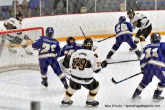 CIACT Ice Hockey D3 QFs; #1 Hand 5 vs. #8 Newtown 0 - Photo # 633