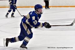 CIACT Ice Hockey D3 QFs; #1 Hand 5 vs. #8 Newtown 0 - Photo # 707