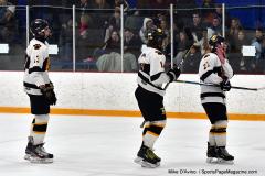 CIACT Ice Hockey D3 QFs; #1 Hand 5 vs. #8 Newtown 0 - Photo # 804