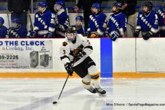CIACT Ice Hockey D3 QFs; #1 Hand 5 vs. #8 Newtown 0 - Photo # 924