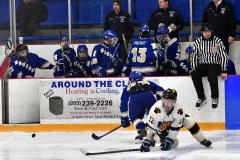 CIACT Ice Hockey D3 QFs; #1 Hand 5 vs. #8 Newtown 0 - Photo # 935