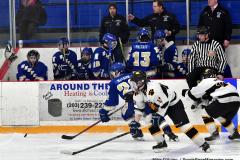 CIACT Ice Hockey D3 QFs; #1 Hand 5 vs. #8 Newtown 0 - Photo # 936