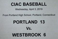 Gallery CIAC Baseball Portland 13 vs. Westbrook 6