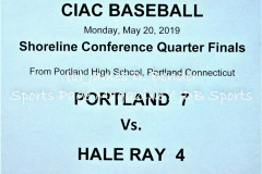 Gallery CIAC Baseball Portland 7 vs. Hale Ray 4