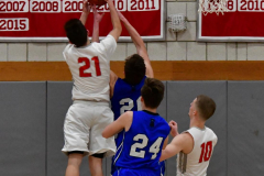 CIAC Boys Basketball; Wolcott 69 vs. East Hampton 63 - Photo # 1027