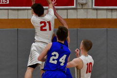 CIAC Boys Basketball; Wolcott 69 vs. East Hampton 63 - Photo # 1028
