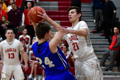 CIAC Boys Basketball; Wolcott 69 vs. East Hampton 63 - Photo # 321