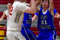 CIAC Boys Basketball; Wolcott 69 vs. East Hampton 63 - Photo # 392