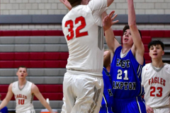CIAC Boys Basketball; Wolcott 69 vs. East Hampton 63 - Photo # 394