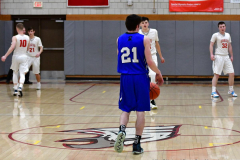 CIAC Boys Basketball; Wolcott 69 vs. East Hampton 63 - Photo # 398