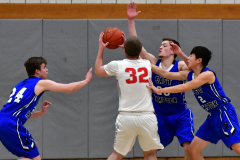 CIAC Boys Basketball; Wolcott 69 vs. East Hampton 63 - Photo # 415