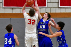 CIAC Boys Basketball; Wolcott 69 vs. East Hampton 63 - Photo # 417