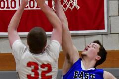 CIAC Boys Basketball; Wolcott 69 vs. East Hampton 63 - Photo # 418