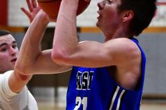CIAC Boys Basketball; Wolcott 69 vs. East Hampton 63 - Photo # 482