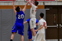 CIAC Boys Basketball; Wolcott 69 vs. East Hampton 63 - Photo # 559