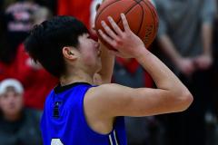 CIAC Boys Basketball; Wolcott 69 vs. East Hampton 63 - Photo # 565