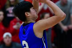 CIAC Boys Basketball; Wolcott 69 vs. East Hampton 63 - Photo # 566