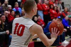 CIAC Boys Basketball; Wolcott 69 vs. East Hampton 63 - Photo # 598