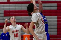 CIAC Boys Basketball; Wolcott 69 vs. East Hampton 63 - Photo # 608