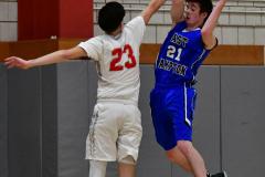 CIAC Boys Basketball; Wolcott 69 vs. East Hampton 63 - Photo # 612