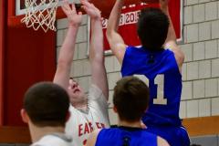 CIAC Boys Basketball; Wolcott 69 vs. East Hampton 63 - Photo # 819