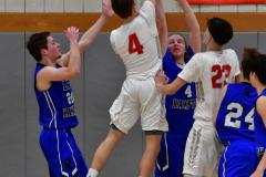 CIAC Boys Basketball; Wolcott 69 vs. East Hampton 63 - Photo # 844