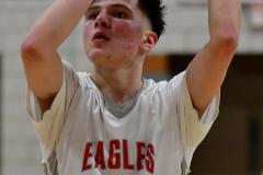 CIAC Boys Basketball; Wolcott 69 vs. East Hampton 63 - Photo # 929