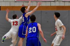CIAC Boys Basketball; Wolcott 69 vs. East Hampton 63 - Photo # 944
