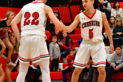CIAC Boys Basketball; Cheshire vs. Southington - Photo # 341