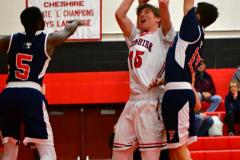 CIAC Boys Basketball; Focused on Cheshire vs. Foran - Photo # 089