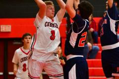CIAC Boys Basketball; Focused on Cheshire vs. Foran - Photo # 109