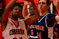 CIAC Boys Basketball; Focused on Cheshire vs. Foran - Photo # 166