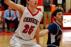 CIAC Boys Basketball; Focused on Cheshire vs. Foran - Photo # 243